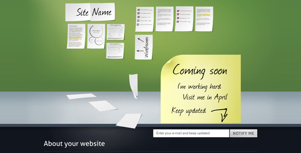 ThemeForest Easy Coming Soon with Pie Chart 10 colors & Bonus 74858