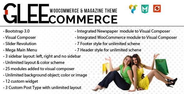 GleeCommerce - Multiconcept Woo and Magazine Theme