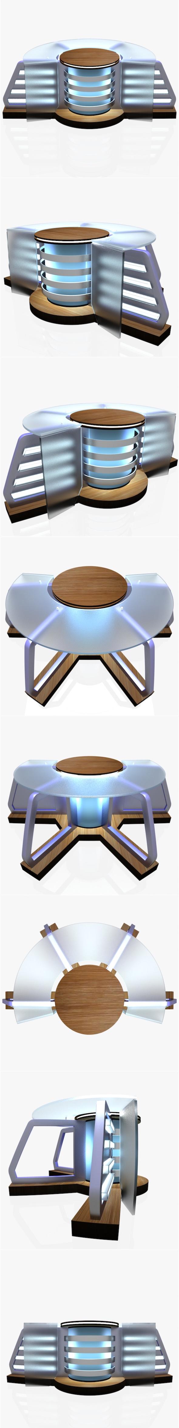 Virtual Tv Studio News Desk 8 - 3DOcean Item for Sale