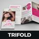 Hair Salon Style Trifold Brochure Design