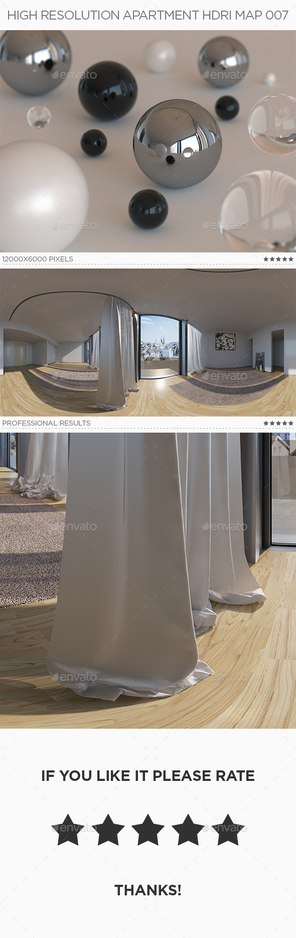 High Resolution Apartment HDRi Map 007 - 3DOcean Item for Sale