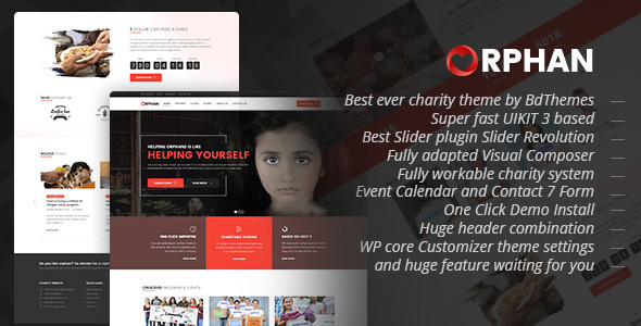 Orphan – Charity WordPress Theme (Charity) images