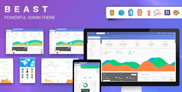 Beast – Responsive Admin Template (Admin Templates) images