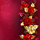Composition with Red Jewelry Roses