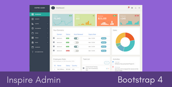 Inspire – Bootstrap 4 Admin Template (Admin Templates) images