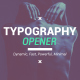 Download Typography Opener from VideHive