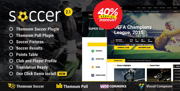 Soccer, Football, Sport WordPress Theme | WP Soccer for Sports