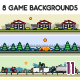8 Game Backgrounds Set 11