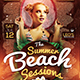 Summer Beach Flyer Template-Graphicriver中文最全的素材分享平台