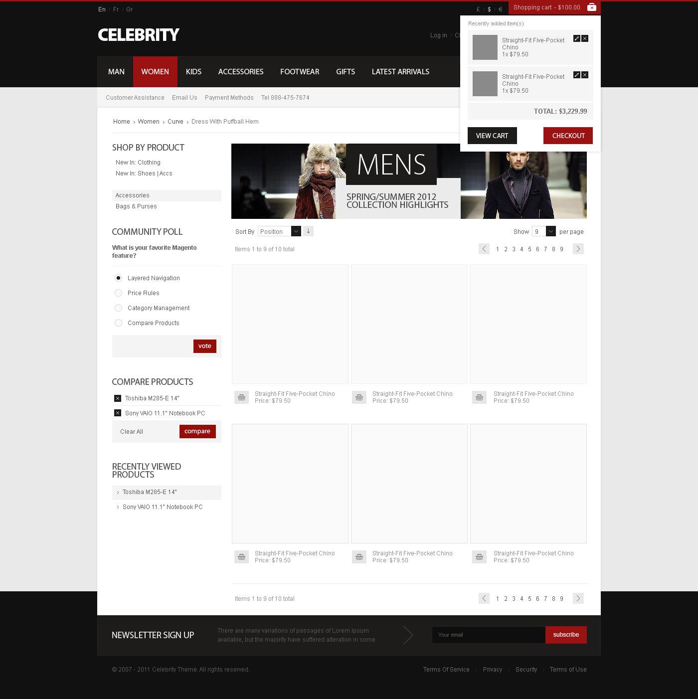 Celebrity - Responsive Magento theme