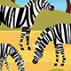 African Animals. Vector Illustration.