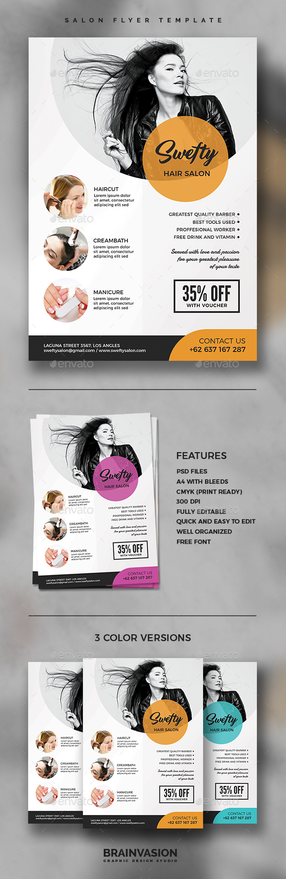 Salon Flyer Template Vol.02