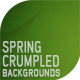 Spring Crumpled Background