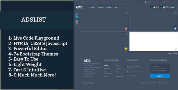 Download Live Code Playground With Bootstrap Themes