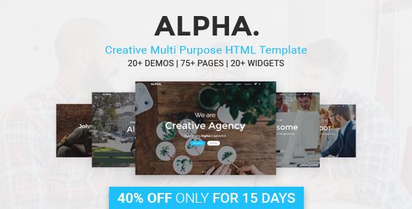 Alpha Dot Multi Purpose HTML5 Template (Corporate) images