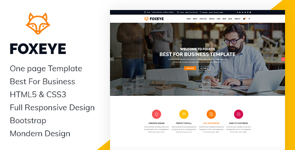 FoxEye- Corporate, Business HTML5 Template (Business) images