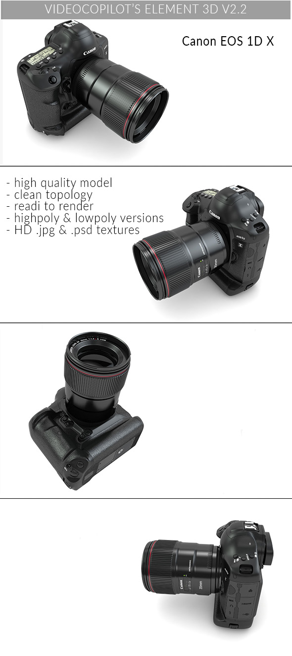 Canon EOS 1D - Element 3D - 3DOcean Item for Sale