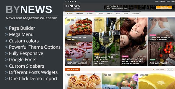ByNews - Responsive News and Magazine WordPress Theme