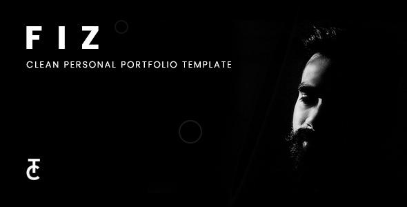 Fiz – Clean Personal Portfolio HTML5 Template (Personal) images