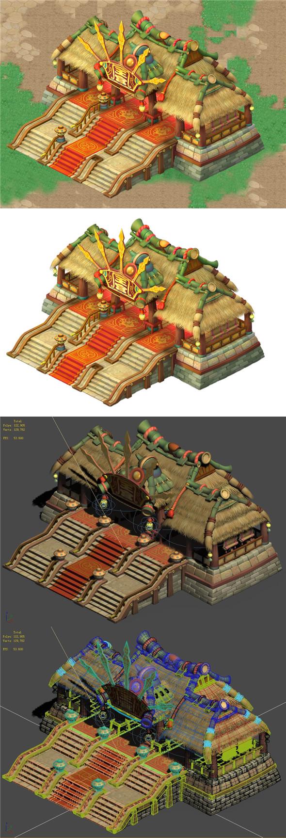 Cartoon world - main hall - 3DOcean Item for Sale