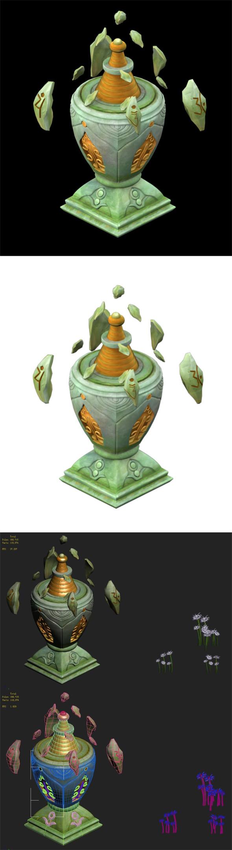 Cartoon Sky City - Guangyin Tian Pagoda - 3DOcean Item for Sale