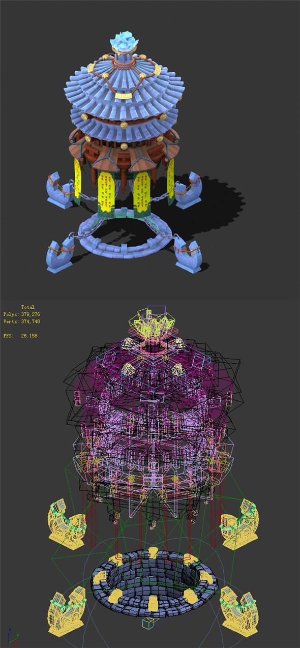 Cartoon Sky City - Canaan Tower - 3DOcean Item for Sale