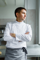 Male chef posing with hands crossed