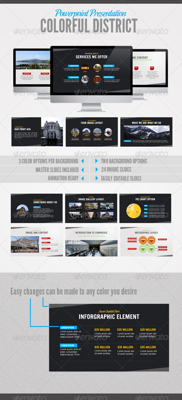 Coloful District - Powerpoint Templates Presentation Templates