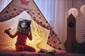 girl in an astronaut costume