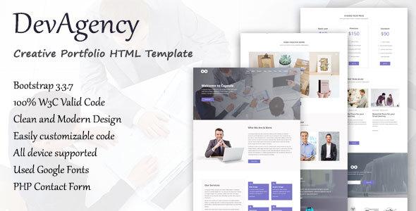 DevAgency – Multipurpose Responsive Template (Corporate) images