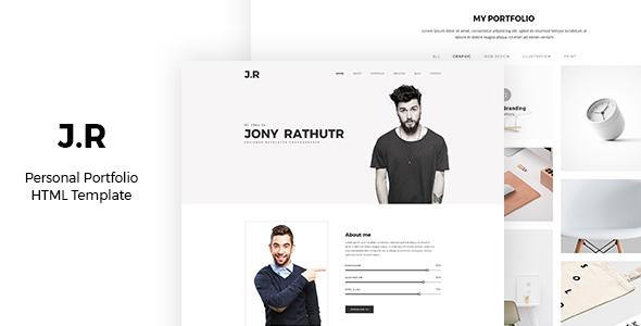 J.R CV / Portfolio – Responsive Resume (Resume / CV) images