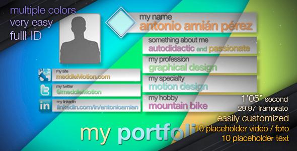 VideoHive Personal Portfolio 1932050