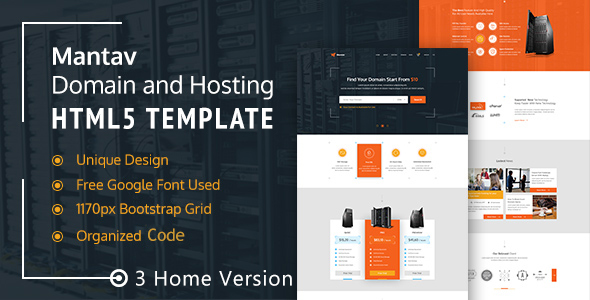 Mantav – Responsive Domain & Hosting Template (Technology) images