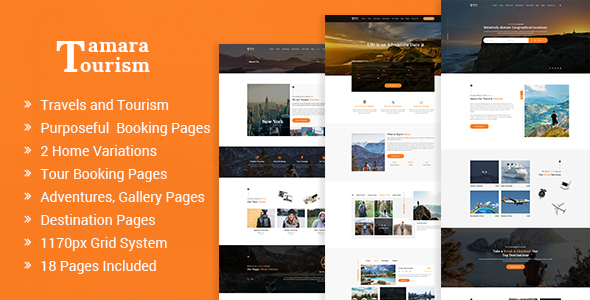 Tamara - Travel Agency and Tourism PSD Template