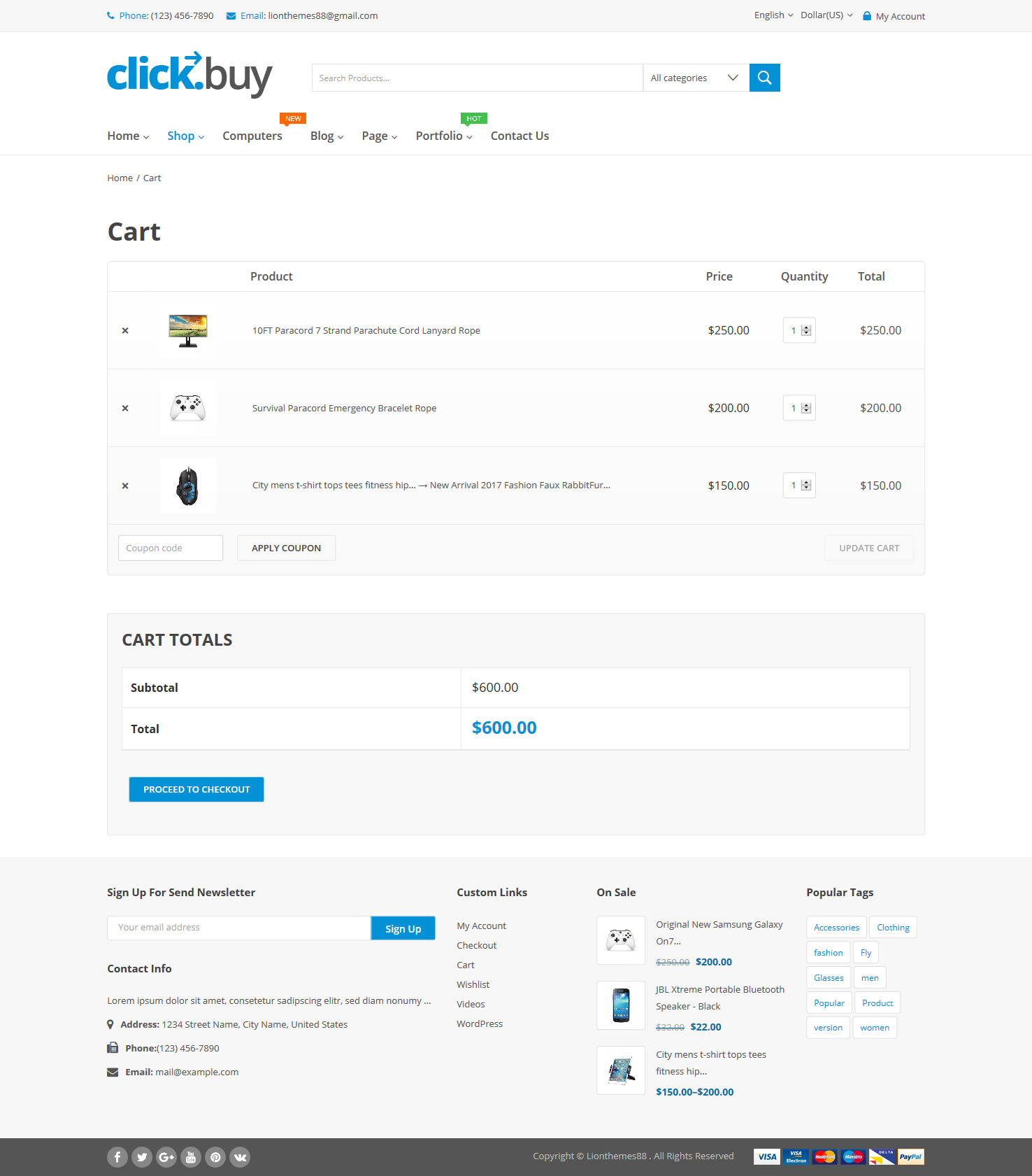 Gmail themes apply - Clickbuy Woocommerce Responsive Digital Theme