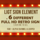 Retro Light Sign Elements