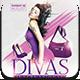 Divas International Flyer Template