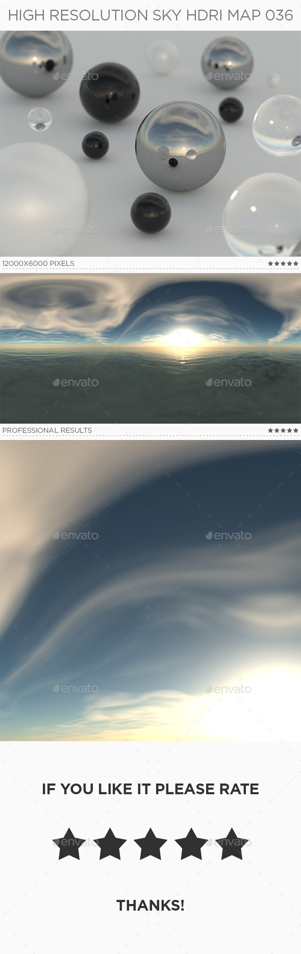 High Resolution Sky HDRi Map 036 - 3DOcean Item for Sale