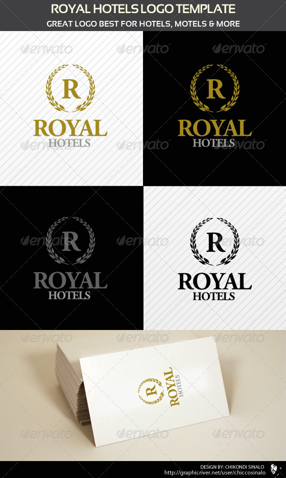 Royal Hotels Logo Template - Abstract Logo Templates