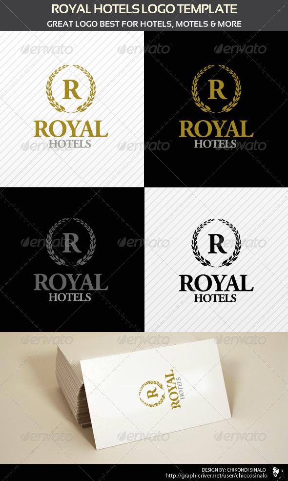 royal hotels logo template graphicriver. Black Bedroom Furniture Sets. Home Design Ideas