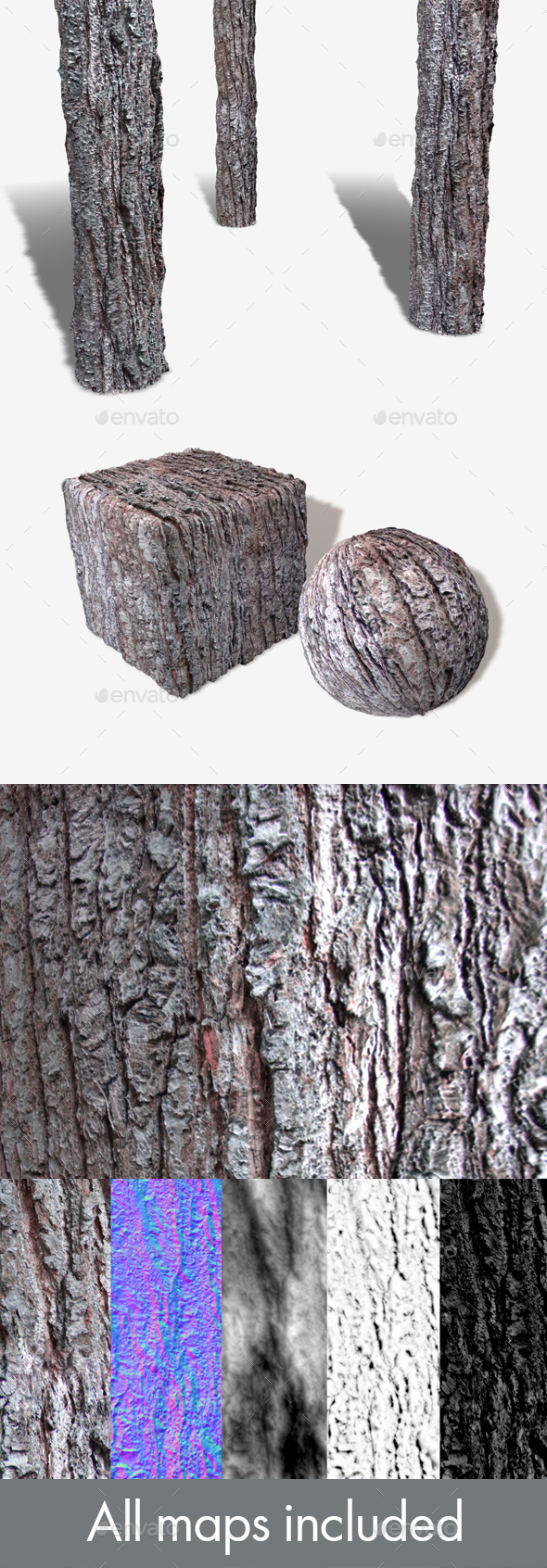 3DOcean Crusty Bark Seamless Texture 19798387
