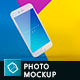 Phone Mock-up Brending Templates with Colorful and Clean Backgrounds Vol.2