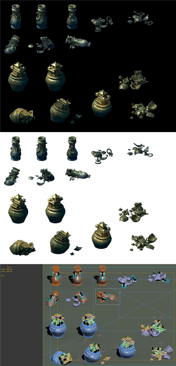 Game Model - Cemetery Funeral Supplies 03 - 3DOcean Item for Sale