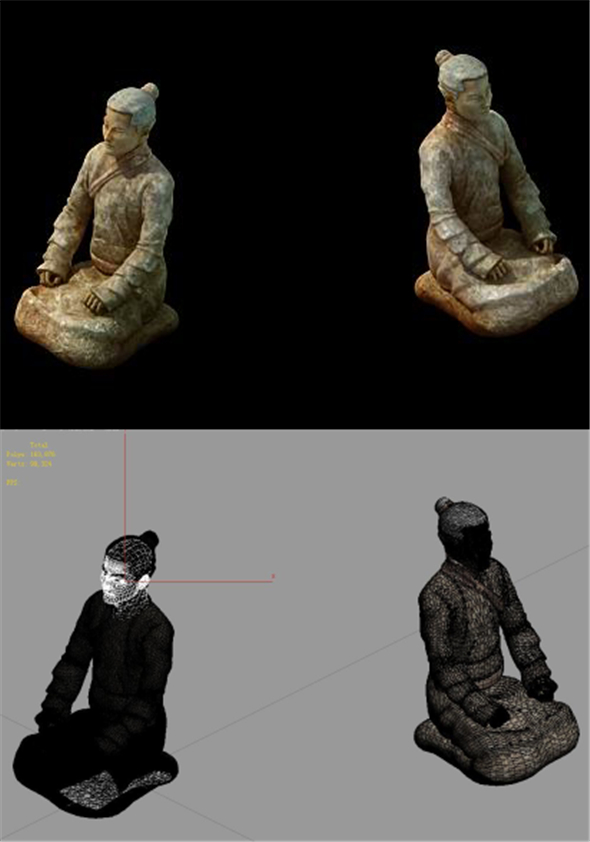 Game Model - Male Terracotta Warriors and Horses 01 - 3DOcean Item for Sale
