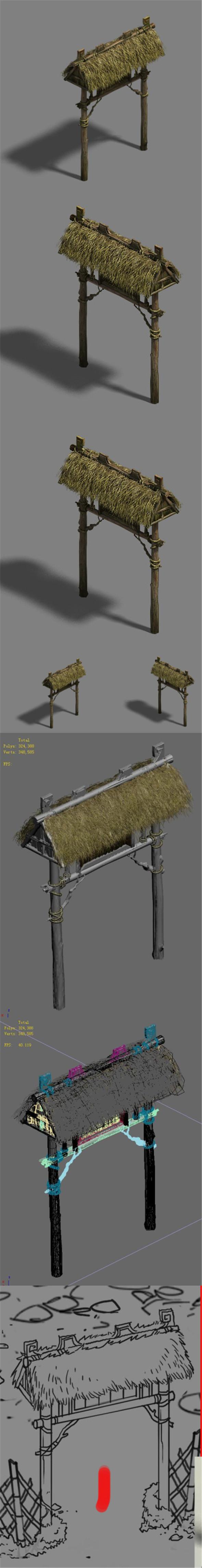 Farmer - door - 3DOcean Item for Sale