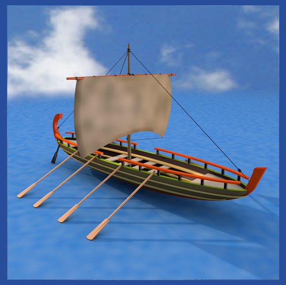 Viking Boat - 3DOcean Item for Sale