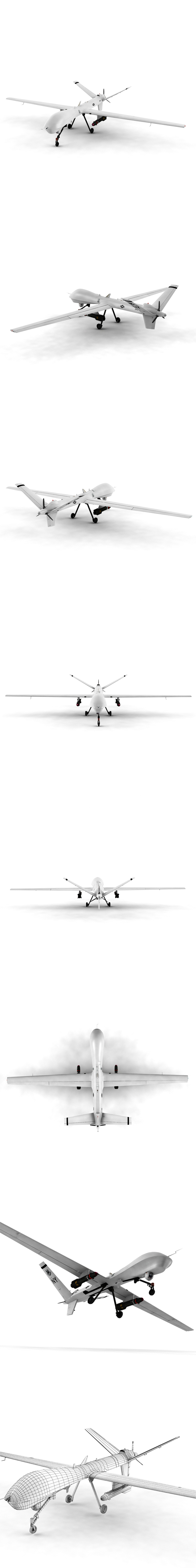 Unmanned aircraft Reaper - 3DOcean Item for Sale