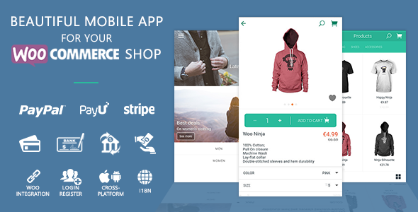 WooCommerce Ionic Mobile App & REST API - CodeCanyon Item for Sale