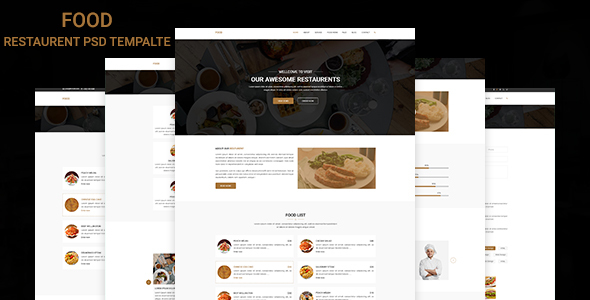 Food - Restaurant PSD Template