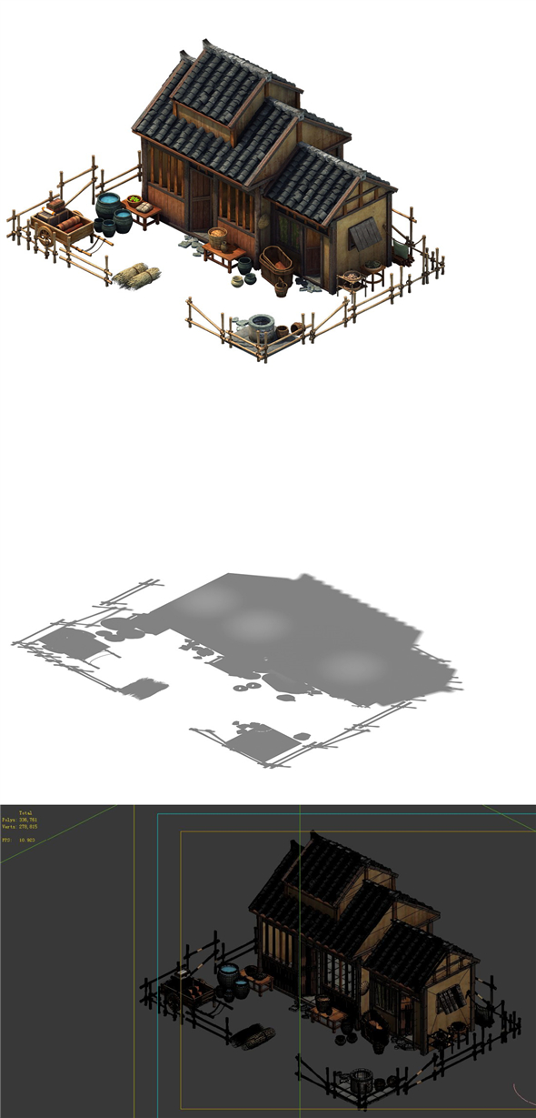 Game model - ordinary residential 06 - 3DOcean Item for Sale